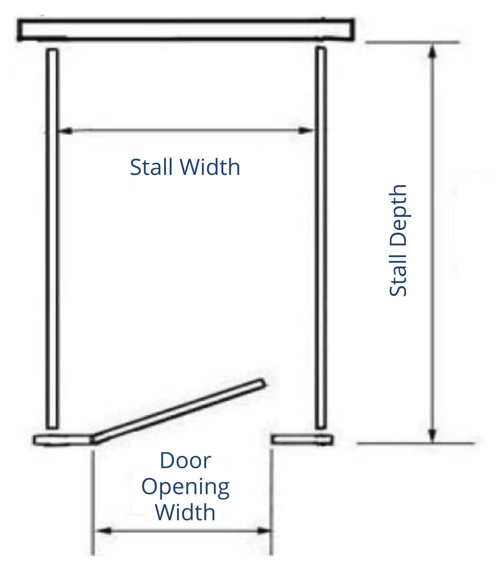 1 Stall Free Standing Diagram